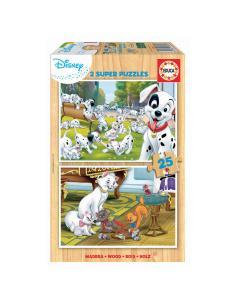 Puzzle Dalmatas + Aristogatos Animals Disney 2x25pzs - Imagen 1