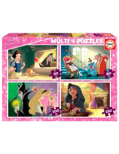 Puzzle Multi Princesas vs Villanos Disney 50-80-100-150pzs - Imagen 1