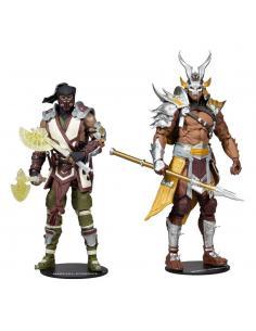 Mortal Kombat Pack 2 Figuras Sub-Zero & Shao Khan 18 cm - Imagen 1