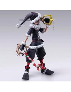 Figura Sora Christmas Town Ver. Kingdom Hearts II Bring Arts Disney 15cm - Imagen 1