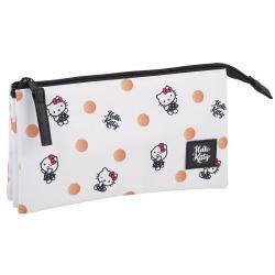 Portatodo Hello Kitty Polka Dots triple - Imagen 1