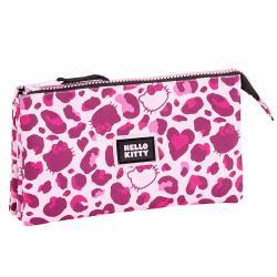 Portatodo Hello Kitty leopard triple - Imagen 1