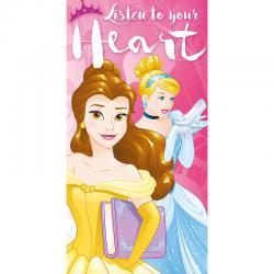Toalla Princesas Disney Listen to your Heart algodon - Imagen 1