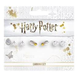 Set pendientes Deathly Hallows Golden Snitch Platform Harry Potter - Imagen 1