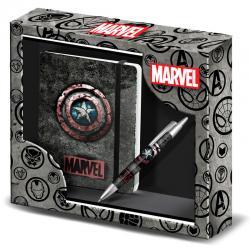 Set diario + boligrafo Capitan America Marvel - Imagen 1