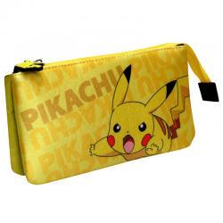 Portatodo Pikachu Pokemon triple - Imagen 1