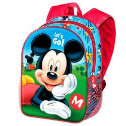 Mochila 3D Lets Go Mickey Disney 31cm - Imagen 1