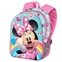Mochila 3D Rainbow Minnie Disney 31cm - Imagen 1