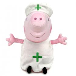 Peluche Enfermera Peppa Pig 20cm - Imagen 1