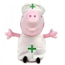 Peluche Enfermera Peppa Pig 27cm - Imagen 1