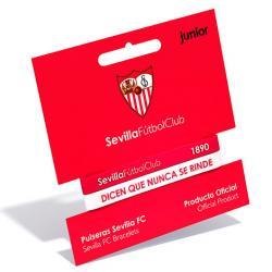 Pulsera embossed Sevilla FC rojo blanco junior - Imagen 1