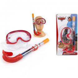 Set gafas tubo bucear Cars Disney - Imagen 1