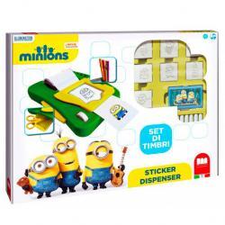 Dispensador pegatinas + 7 sellos Minions - Imagen 1