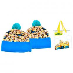 Gorro pompon + bolsa Minions - Imagen 1