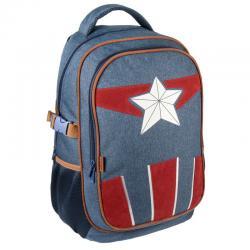 Mochila viaje Capitan America Vengadores Avengers Marvel 47cm - Imagen 1