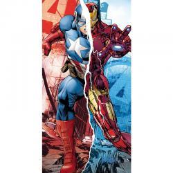 Toalla Vengadores Marvel Capitan America Iron Man algodon - Imagen 1