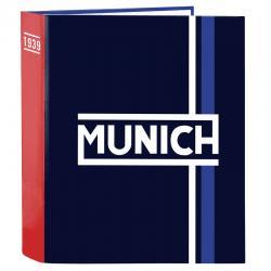 Carpeta A4 Munich Retro anillas lomo ancho - Imagen 1