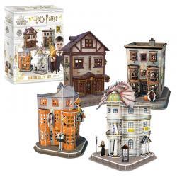 Puzzle 3D Set del Callejon Diagon Harry Potter - Imagen 1