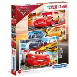 Puzzle Cars 3 Disney 2x60pzs - Imagen 1