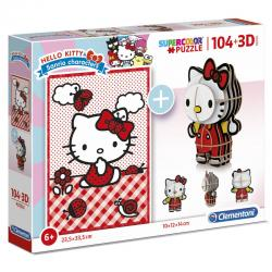 Puzzle 104 + 3D Hello Kitty 104pzs - Imagen 1