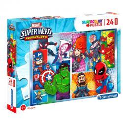 Puzzle Maxi Superhero Marvel 24pzs - Imagen 1