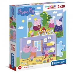 Puzzle Peppa Pig 2x20pzs - Imagen 1