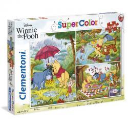 Puzzle Winnie the Pooh Disney 3x48pzs - Imagen 1