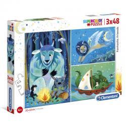 Puzzle Maxi Fantastic Friends 3x48pzs - Imagen 1