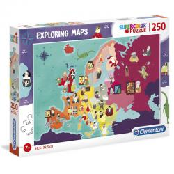 Puzzle Great Peope in Europe Exploring Maps 250pzs - Imagen 1
