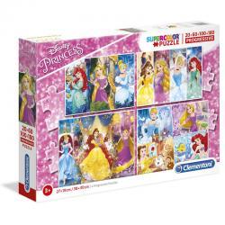 Puzzle Princesas Disney 20+60+100+180pzs - Imagen 1