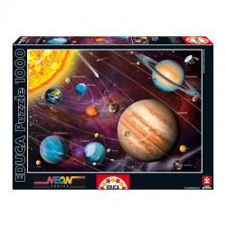 Puzzle Sistema Solar Neon 1000pz - Imagen 1