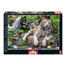 Puzzle Tigres Blancos Bengala 1000pz - Imagen 1