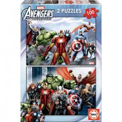 Puzzles Vengadores Avengers Marvel 2x100 - Imagen 1