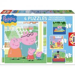 Puzzles progresivos Peppa Pig 6-9-12-16 - Imagen 1