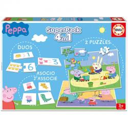Super pack 4 en 1 Peppa Pig - Imagen 1