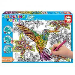 Puzzle Coloreable Hummingbird 300pz - Imagen 1