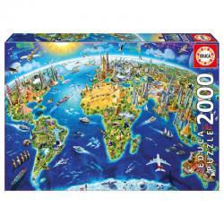Puzzle Simbolos del Mundo 2000pz - Imagen 1
