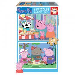 Puzzle Peppa Pig 2x25pz - Imagen 1