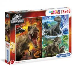 Puzzle Jurassic World 3x48pzs - Imagen 1