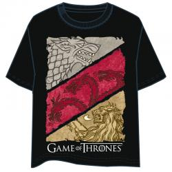 Camiseta House Crest Juego de Tronos adulto - Imagen 1
