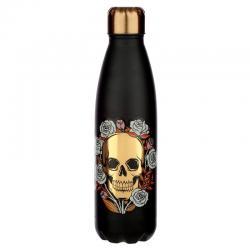 Botella acero inoxidable Skull Roses - Imagen 1