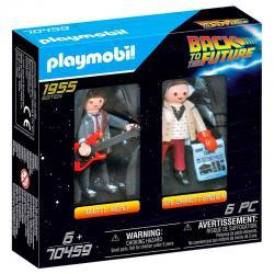 Set 2 figuras Marty Mcfly y Dr. Emmett Brown Regreso al Futuro Playmobil - Imagen 1
