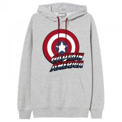 Sudadera capucha Capitan America Marvel adulto - Imagen 1