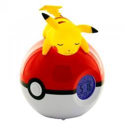 Lampara despertador Led Pikachu Pokeball Pokemon - Imagen 1