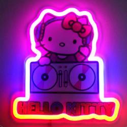 Lampara mural neon Neon Hello Kitty - Imagen 1