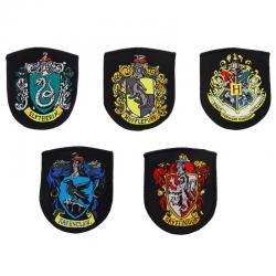 Set 5 parches Hogwarts Harry Potter - Imagen 1