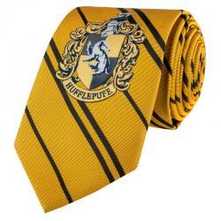 Corbata Hufflepuff Harry Potter logo tejido - Imagen 1