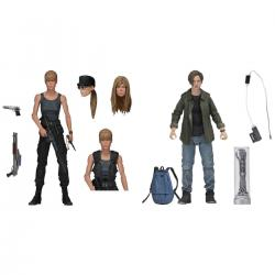 Set 2 figuras Sarah Connor y John Connor Terminator 2 El Juicio Final 18cm - Imagen 1