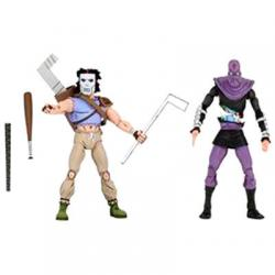 Set 2 figuras articuladas Casey Jones y Foot Soldier Tortugas Ninja 18cm - Imagen 1