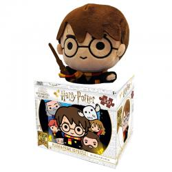Set puzzle lenticular Chibi Harry Potter 300pzs + peluche Harry Potter 20cm - Imagen 1